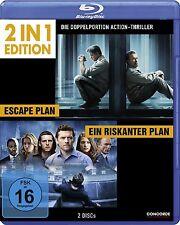 ESCAPE PLAN (Arnold Schwarzenegger) + EIN RISKANTER PLAN (2 Blu-ray Discs) NEU