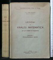 LEZIONI DI ANALISI MATEMATICA. Vol. 1. Ghizzetti. Libreria Virgilio Veschi.