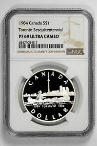 1984 S$1 Toronto Sequicentennial Silver Canada Dollar NGC PF 69 Ultra Cameo