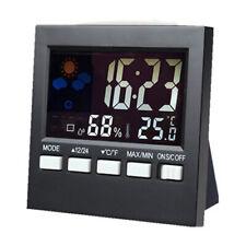 Digital Reloj Despertador Radio Estación Metereológica Termómetro Higrómetro LCD