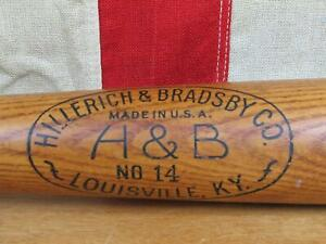 "Vintage 1940s Hillerich & Bradsby Wood 'Safe Hit' Baseball Bat Pepper Martin 35"""