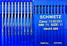 SCHMETZ DBXK5 SES C1380EB 1 NM75S=11 EMBROIDERY INDUSTRIAL SEWING MACHINE NEEDLE