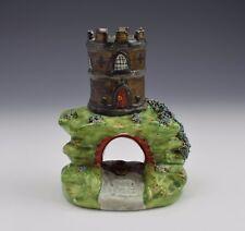 Unusual John Walton Staffordshire Pearlware Castle Spill Vase