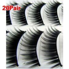 20 pares negro grueso maquillaje larga Natural pestañas falsas  #149