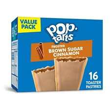 NEW Pop Tarts Toaster Pastries Frosted Brown Sugar Cinnamon 16 Count FREE SHIP