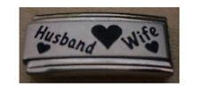 9mm Classic Size Italian Charm Superlink Husband Wife Fits Classic Size Bracelet