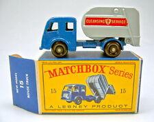 "Matchbox RW 15C Refuse Truck große Räder top in ""D"" Box"