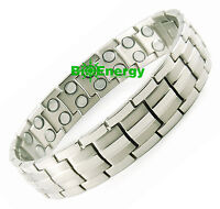 Magnet Magnetic TITANIUM steel Energy Power Bracelet Health Bio Men's UNISEX