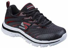 Skechers Black/Red Nitrate Lace up Shoes