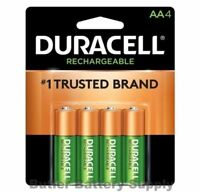 4 Duracell AA Rechargeable pre charged  NiMH Batteries (2500 mAh, DX1500)
