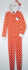 Sanrio Hello Kitty Women's One Piece Polka Dots Pajamas Size Medium NWT