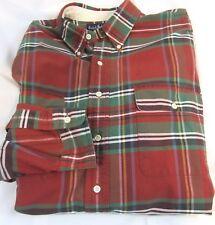RALPH LAUREN Mens Plaid XL Shirt, 2 breast pockets,Rust/Green/Brown