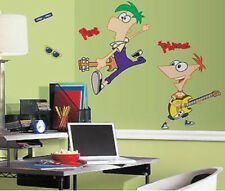 PHINEAS AND FERB wall stickers 12 peel and stick giant decals guitars