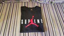 Supreme X Air Jordan Black T shirt Size Large kate moss crewneck box photo Tyson
