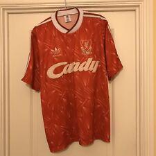 Rare Vintage Adidas Liverpool Home Football Shirt 1989/91 Large