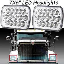 "2x 7x6"" LED Sealed Beam Headlight For International IHC Assembly 9900 9400i 9200"