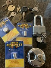 Mixed Lot Of 13 Super Magnets Locks Old Keys Key Chains