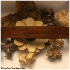 Handmade Outlander Inspired Sassenach Pyrography Leather Cuff