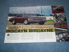 "1968 Chevy Biscayne RestoMod Article ""Inscayn Biscayne"" Impala Bel Air"