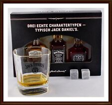 Jack Daniels Old No.7 Gentleman Jack Single Barrrel Whiskey Glas & Kühlsteinen