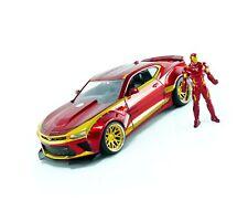 Jada Toys Marvel Iron Man & 2016 Chevy Camaro Die-cast Car, 1:24 Scale Vehicl...
