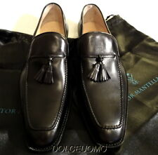 NEW $900 SUTOR MANTELLASSI ITALY 11 D TAssel loafers SHOES w ORIGINAL SHOE BAGS