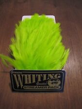 Fly Tying-Whiting Farms Streamer Pack Fl. Green Chartreuse