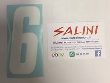 Numero Numeri adesivi gara moto cross SEI Bianco - 10 cm