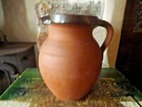 Vintage Brannam Royal Barum Ware Medium Size Brown Earthenware Jug