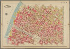 1908 WILLIAMSBURG BRIDGE BROOKLYN NY PS 17 & 143 EAST RIVER - UNION ST ATLAS MAP
