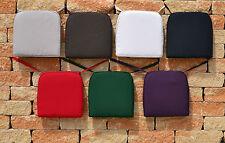 Kissen mit Reißverschluss und Bindebändern 7 Farben Sitzkissen Stuhlkissen Stuhl