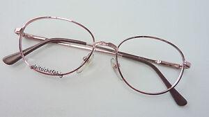 Brillen Damenbrille Metall rosa rosé abgerundet mittelgroß preiswert Gr. M