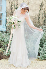 Mantilla lace silk style wedding veil, Mantilla Wedding Veil, Mantilla bridal