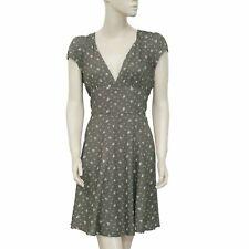 192843 New Denim & Supply Ralph Lauren Printed Cutout Boho Brown Mini Dress M