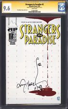 STRANGERS IN PARADISE #2 (Antarctic Press) CGC 9.6 SS / Signed by Terry Moore!