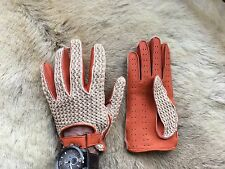 Crochet Driving Leather Gloves for Men's Top Fashion Car Gloves from Deerskin