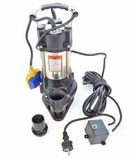 Schmutzwasserpumpe Fäkalienpumpe mit Schneidwerk, Tauchpumpe 550 Watt 12000 L/h