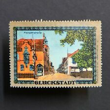 Poster Stamp * GERMANY * Glückstadt Tourism Advertising Label • Cinderella