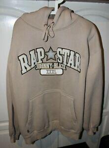 Johnny Blaze Rap Star Hoodie Sweatshirt Size XL RARE Beige 90s Brand