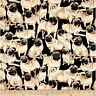 Timeless Treasures Dogs Packed Pugs Pug Animal 100% cotton fabric by the yard