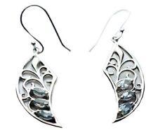 Pendientes de joyería topacio plata