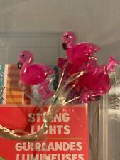 10ct FLAMINGO STRING LIGHTS ROOM, LOCKER, PARTY DECORATION