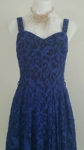 REVIEW DRESS, Size 8, Blue Color, LACE, PRE OWNED IN EXCELLENT CONDITION $69.99