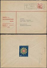 SWITZERLAND 1944 ENVELOPE PRIVATE CO PRINTED + MILITARY LABEL ACTIVE SERVICE