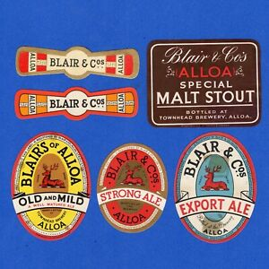 BELAIR  &  CO  (ALLOA)  LTD.  TOWER  BREWERY.  UK OLD BEER LABELS