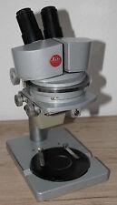 Leitz Großfeld Stereomikroskop Microscope mit Okularen W 16x (+Okularmikrometer)