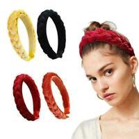 Aliceband Haarschmuck Stirnbänder Haarreifen 1cm schmal Satin Haarband M3M0