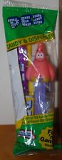 PEZ: Patrick Star from Spongebob, Green pack, purple stick, never opened 2004