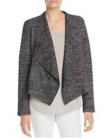 Bagatelle Women's Sz M Open Front Draped Wool Blend Knit Jacket Gray Melange
