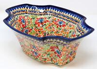 "Polish Pottery Market Fruit Bowl 10.75"" x 7.5"" From Zaklady Boleslawiec 1203/312"